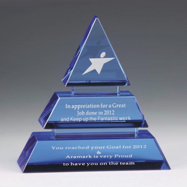 blue crystal pyramid award