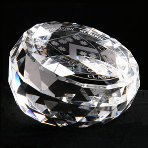 brilliant crystal paperweight awards