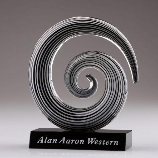 Art Glass Circular Swirl Award