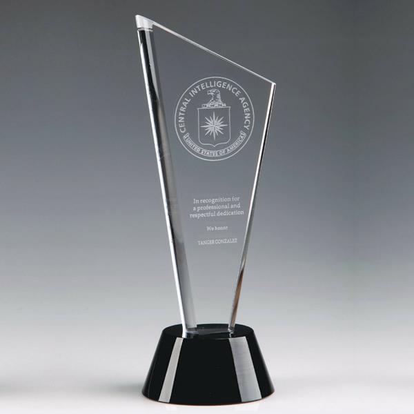 peak crystal tower plaque crystal black tie awards