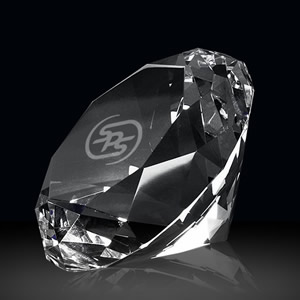 diamond crystal paperweight gift award
