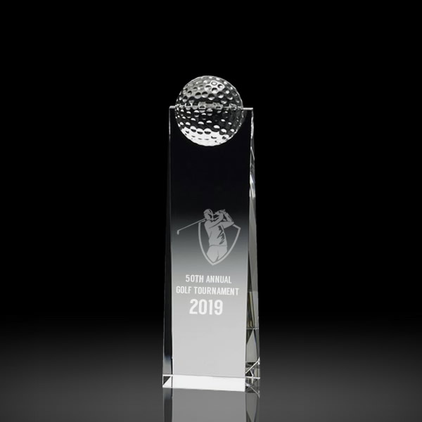 crystal golf awards
