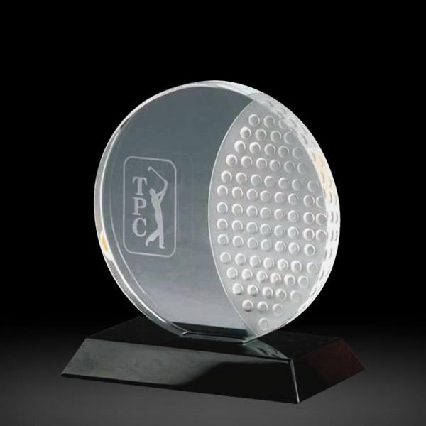 crystal golf ball awards