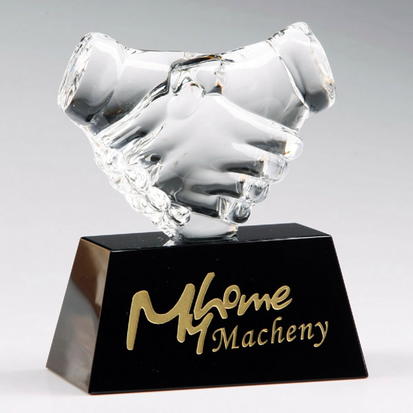 crystal handshake awards