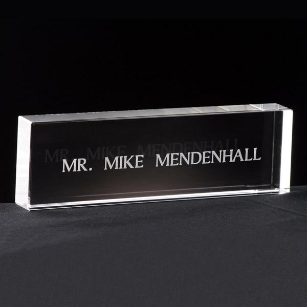crystal name display awards