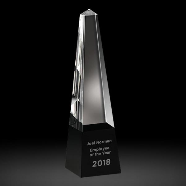 obelisk crystal tower award