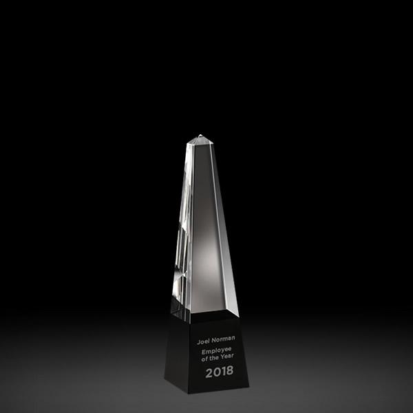 crystal obelisk w black base awards