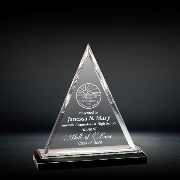 Triangle Shaped Crystal Awards