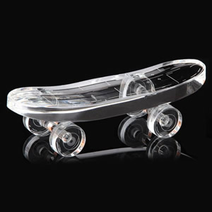 crystal skateboard awards
