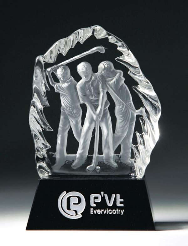 crystal triple golfer awards