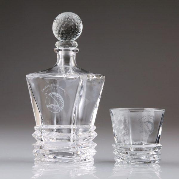 square crystal golf decanter set golf gift