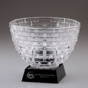 faceted bowl on base awards