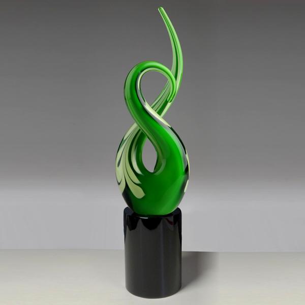 free form green crystal art awards