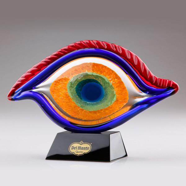 hand blown art glass eye award