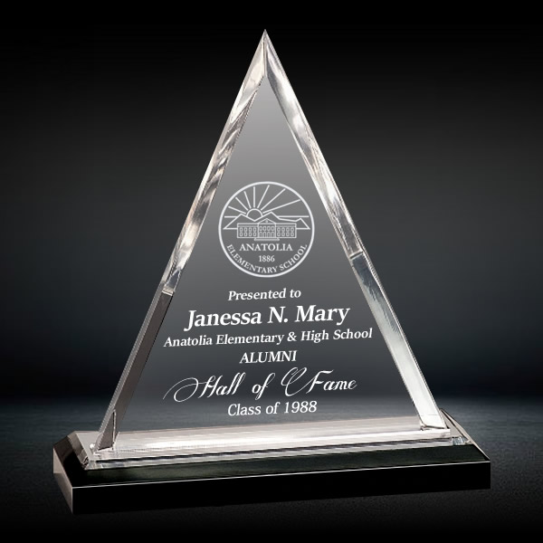 Crystal Pyramid Plaque Awards