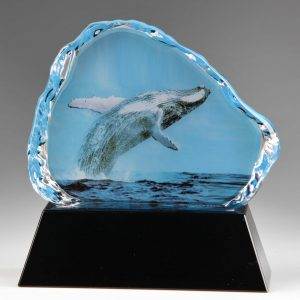Medium Crystal Whale Animal Awards