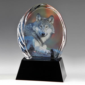 Medium Crystal Wolf Animal Awards