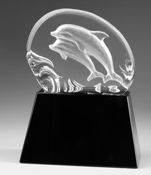 3d crystal dolphin awards