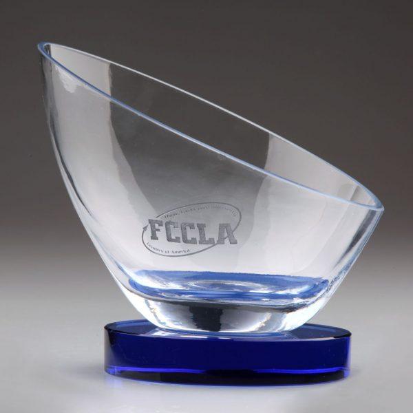 personalized crystal bowl award