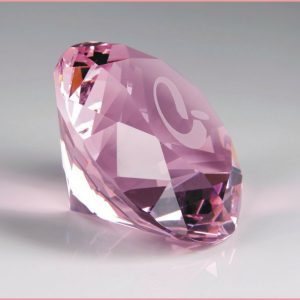 pink crystal diamond paperweight awards
