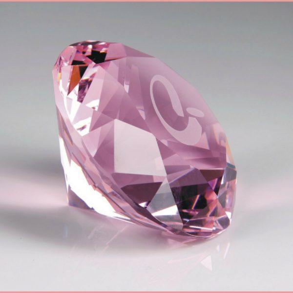 pink crystal diamond paperweight awards
