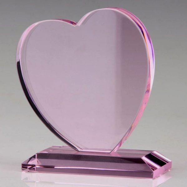 pink crystal heart awards