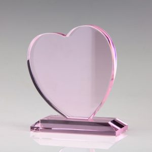pink crystal heart awards