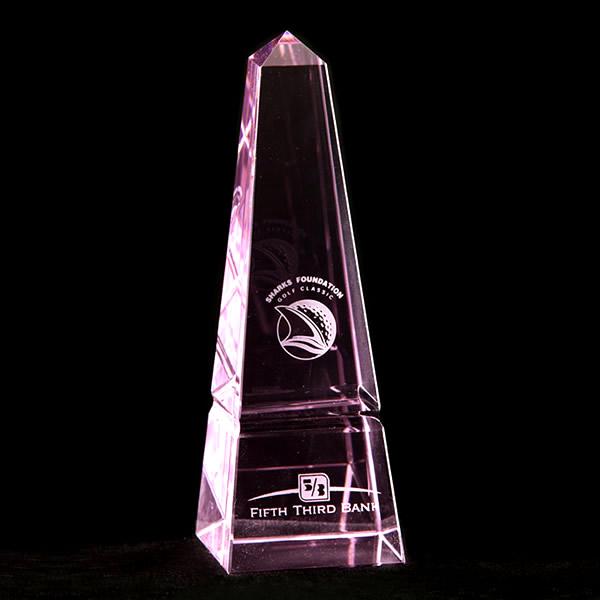 pink crystal obelisk awards