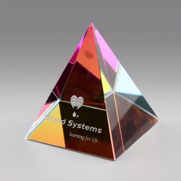 rainbow crystal pyramid award