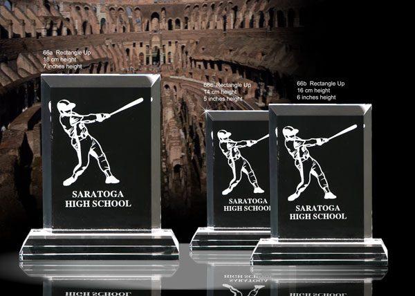 Rectangular Crystal Plaque Awards