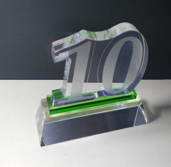 crystal 10 years of service award