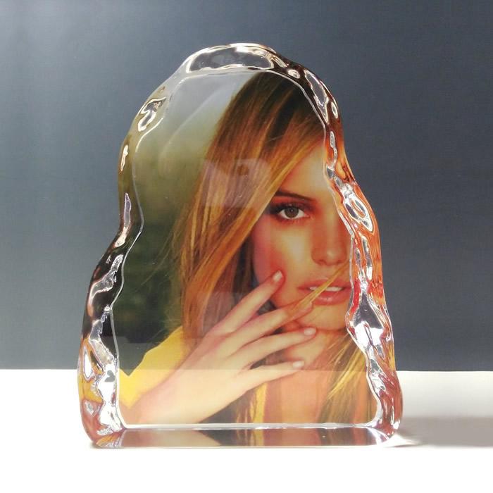 color imprinted iceberg crystal sublimation award