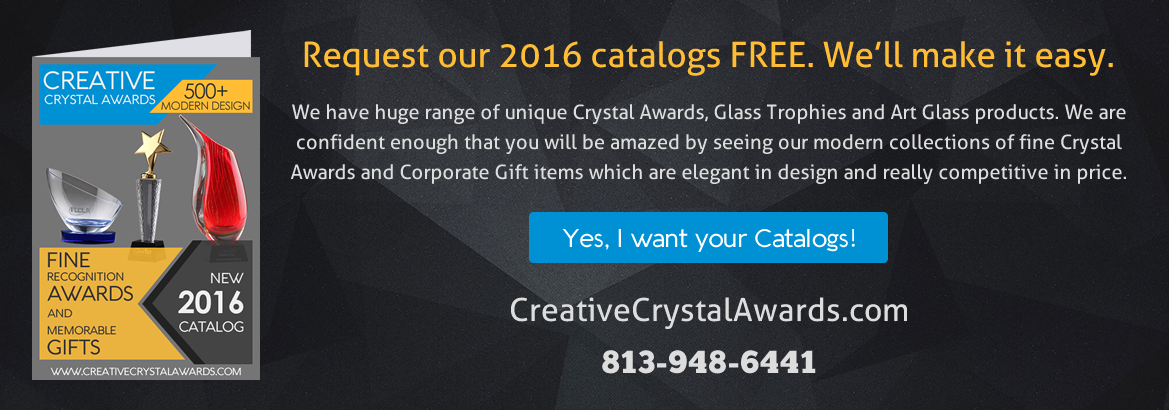 Corporate crystal awards and glass trophies supplier in USA