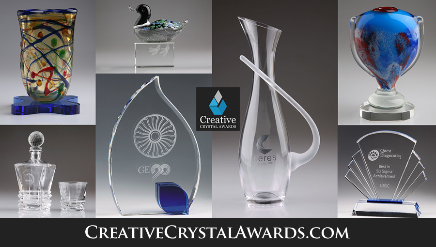 engraved crystal awards and crystal trophies