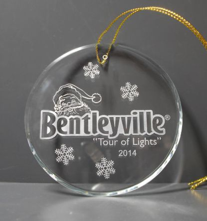 round crystal Christmas ornament holiday gift