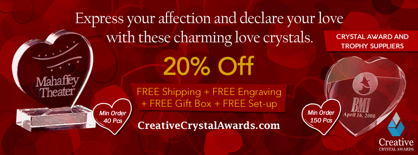 Valentines Crystal Gifts Suppliers