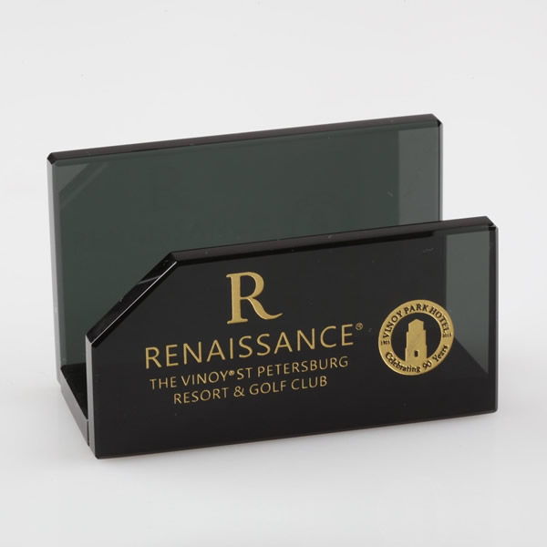 Black Crystal Business Card Holder