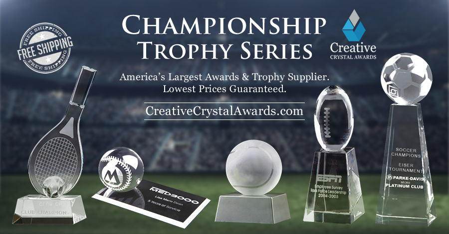 Engraved Crystal Sports Trophies and Awards for All Sports Tournaments