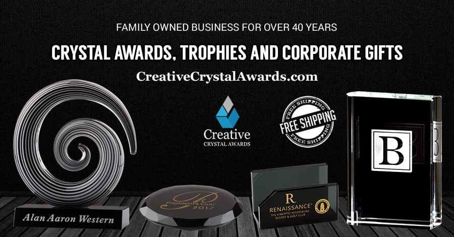 Black Friday Shopping Bash with some Personalized Crystal Awards