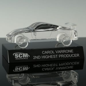 Custom Crystal Car Model Awards Engraved Car Racing Trophies