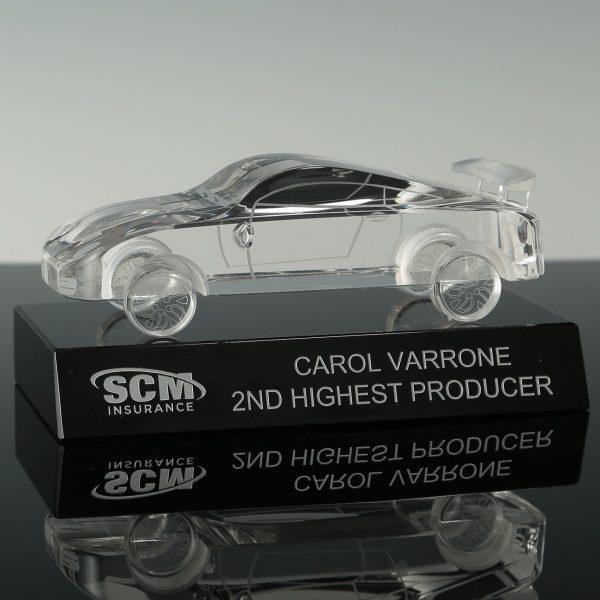 3d Crystal Car Model Awards Engraved Crystal Car Racing Trophies