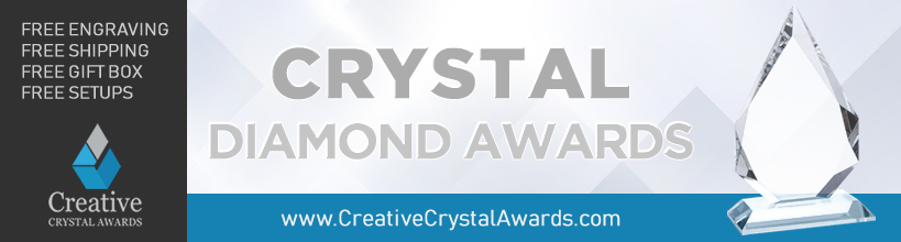 Diamond crystal awards and diamond crystal trophies