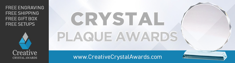 engraved crystal award plaque suppliers