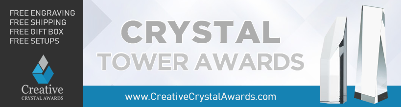 personalized crystal tower award suppliers