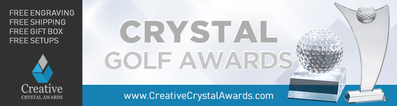 wholesale crystal golf trophy suppliers