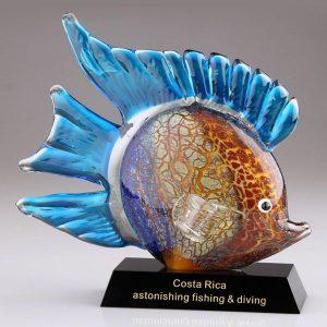 Murano Glass Fish Figurine Hand Blown Art Glass Tropical Fish Awards