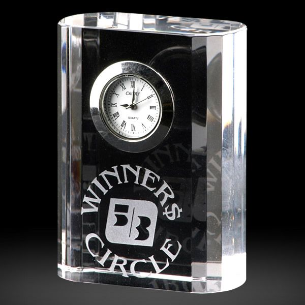 Personalized Crystal Clock Employee Gift Awards
