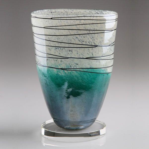 Personalized Murano Art Glass Vase Award
