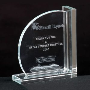 Custom Crystal Bookends Pair Personalized Gift Awards