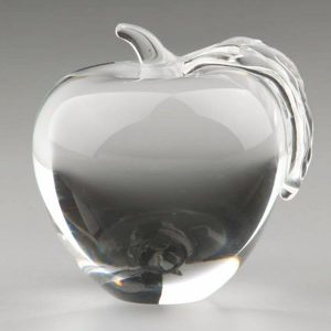 Personalized Crystal Apple Awards